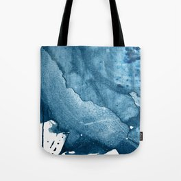 4 am Thoughts [5]: a minimal abstract painting in blue by Alyssa Hamilton Art Tote Bag