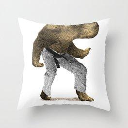 Dangerous Hippo Throw Pillow