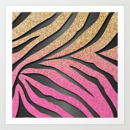 zebra print art prints society6