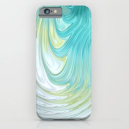 Teal Dreams Collection (2) - Fractal Art  iPhone Case