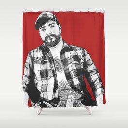 Husky Shower Curtain