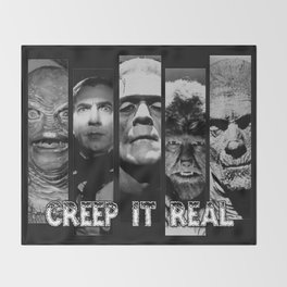 CREEP IT REAL AGAIN Throw Blanket