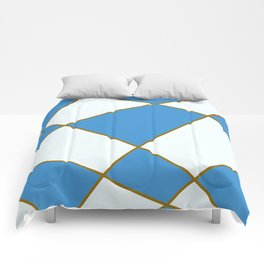 Geometric abstract - blue and brown. Comforters