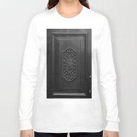door Long Sleeve T-shirts featuring door by habish