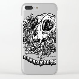 skeleton cat Clear iPhone Case