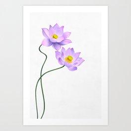 Thamarai, Yellow Flower, Floral Pattern, Yellow Blossom Art Print