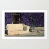 outdoor Art Prints featuring Outdoor Seating by Tamara Lynn Photography
