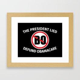 The President Lied Framed Art Print