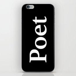 Poet inverse edition iPhone Skin