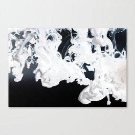 Negative Smoke Canvas Print