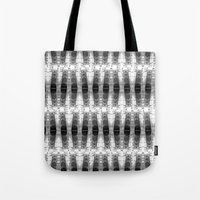 totem Tote Bags featuring TOTEM by spixpah
