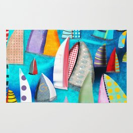 Regatta Segelbilder Marinemalerei segeln Rug