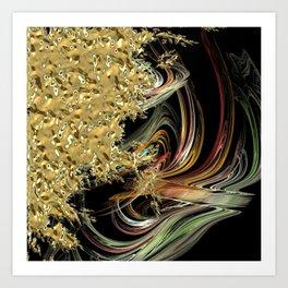 Golden Abstractions Art Print