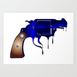 Melting Gun Art Print