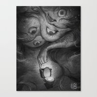 murakami Canvas Prints featuring What Are You Afraid Of? by Reiko Murakami by Shop of Love and Fear