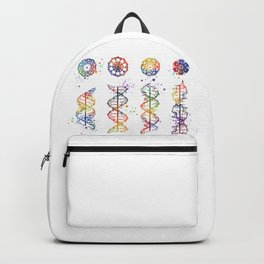 DNA Helix A-B-C-Z Medical Art Prints Genetic Doctor Gift Biology Poster DNA Print Watercolor Print Backpack