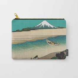 Tama River and Mount Fuji Carry-All Pouch