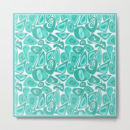 Retro .Turquoise abstraction . Metal Print