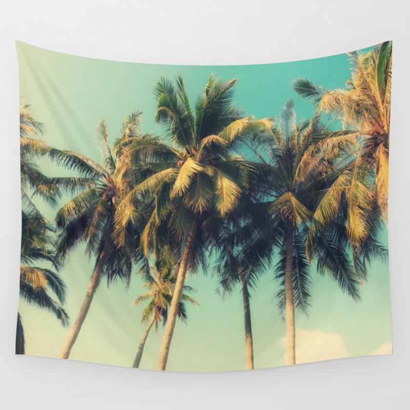 Tropical Trees In Florida Wall Tapestry By Markashkenazi Society6