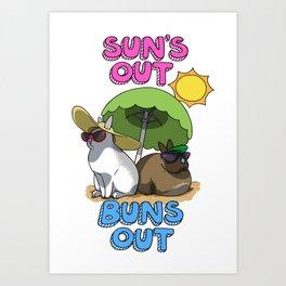 Sun's Out Buns Out Art Print