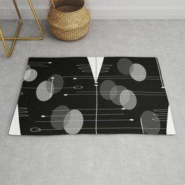 Atomic Space Age Black Rug