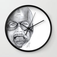 avenger Wall Clocks featuring Zombie Avenger by THINGS I DOODLE