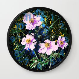 Flowers In My Father's Yard Remixed Wall Clock
