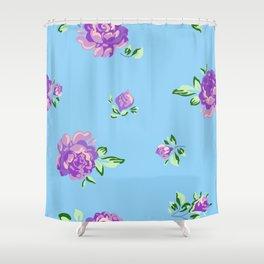 Blue Joys of Spring Shower Curtain