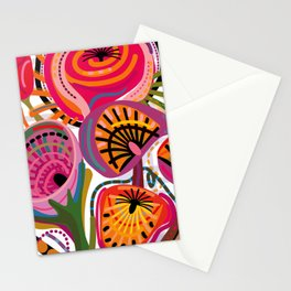Red Flower Trip Stationery Cards