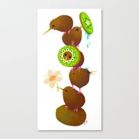 kiwi Canvas Prints featuring Kiwi by DanBee Kim