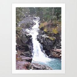 Washington Waterfall Art Print
