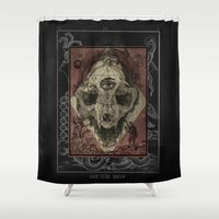 alchemy Shower Curtains featuring Alchemy 1800 by Dark Room