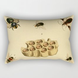 Bees Wasps And Honeycomb Rectangular Pillow