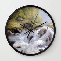 rush Wall Clocks featuring Rush by Helen Harris/PineShoreStudio