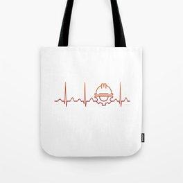 Engineer Heartbeat Tote Bag