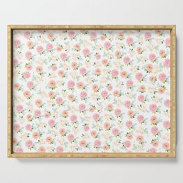 Sweet Pink Blooms (Floral 02 - Small) Serving Tray