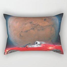 SpaceX Dont Panic Rectangular Pillow