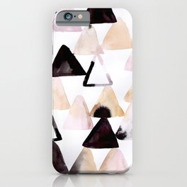 Moody Triangles iPhone Case