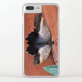 Forest Giant Owl Butterfly Clear iPhone Case