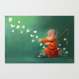 Shaolin Monk Canvas Print