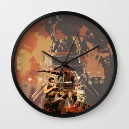Max and Furiosa Wall Clock