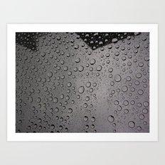 Rain Droplets  Art Print