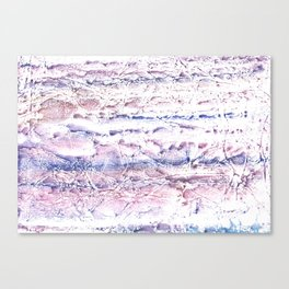 Blue purple marble hand-drawn watercolor pattern Canvas Print