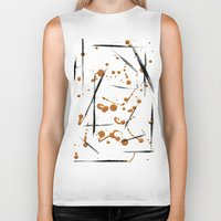 black and gold Biker Tanks featuring black & gold by Jecca All