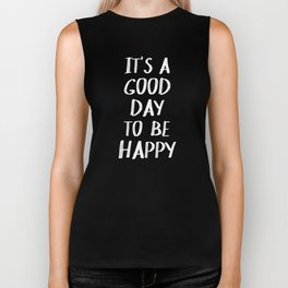 It's a Good Day to Be Happy - Yellow Biker Tank