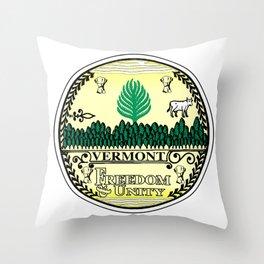 Vermont State Seal Throw Pillow