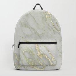Marble Love Gold Metallic Backpack