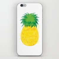 pinapple iPhone & iPod Skins featuring Pineapple Crush by Megan Hillier