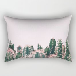 Pink Blush Cactus Rectangular Pillow