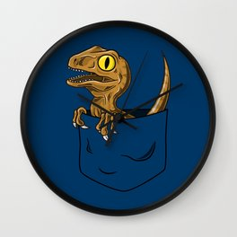 Pocket Raptor (Jurassic Park Velociraptor) Wall Clock